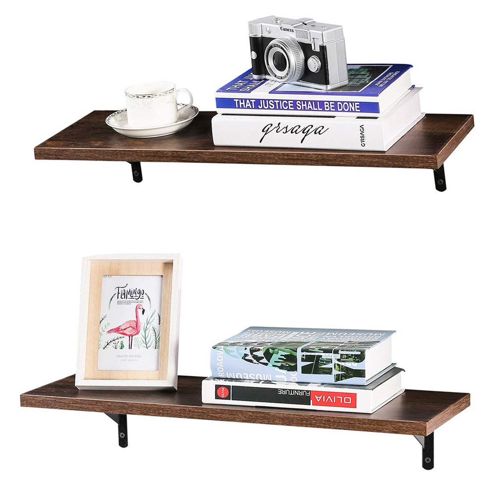 """Floating Shelves 24 Inch Pine Rustic Wall Mounted 8"""" Deep"""